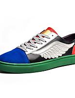 Недорогие -Муж. Комфортная обувь Полиуретан Осень На каждый день Кеды Дышащий Белый / Черный / Черный / зеленый