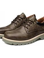 Недорогие -Муж. Комфортная обувь Полиуретан Осень Туфли на шнуровке Черный / Серый / Зеленый