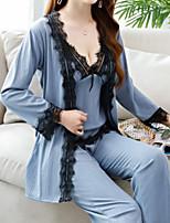 abordables -Costumes Vêtement de nuit Femme - Dentelle, Couleur Pleine