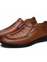 abordables -Homme Chaussures de confort Polyuréthane Automne Mocassins et Chaussons+D6148 Noir / Marron