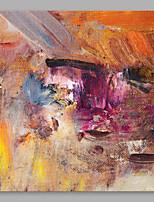 Недорогие -Hang-роспись маслом Ручная роспись - Абстракция Modern холст