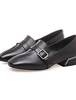 Недорогие -Жен. Комфортная обувь Наппа Leather / Полиуретан Наступила зима Ботинки На плоской подошве Черный