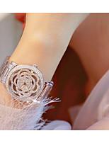 abordables -Femme Montre Bracelet Quartz Boussole Alliage Bande Analogique Mode Squelette Argent / Doré - Or Argent Un ans Autonomie de la batterie