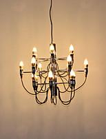 Недорогие -Ecolight™ Свеча-стиль / Спутник Люстры и лампы Рассеянное освещение Электропокрытие Металл Творчество, Новый дизайн, Свеча Стиль 110-120Вольт / 220-240Вольт Лампочки не включены / E12 / E14 / FCC