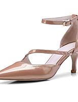 Недорогие -Жен. Комфортная обувь Наппа Leather Весна Обувь на каблуках На шпильке Белый / Коричневый