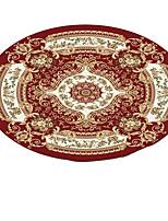 baratos -Os tapetes da área Modern Poliéster Elástico Tricotado 100g / m2, Redondo Qualidade superior Tapete