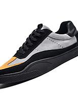 Недорогие -Муж. Комфортная обувь Полиуретан Осень Кеды Контрастных цветов Черный / Бежевый