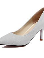 abordables -Femme Chaussures de confort Polyuréthane Printemps Chaussures à Talons Talon Aiguille Argent / Violet / Bleu