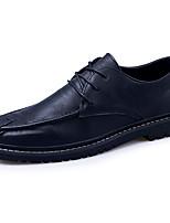 baratos -Homens Sapatos Confortáveis Couro Ecológico Outono Vintage Oxfords Use prova Preto / Marron / Khaki