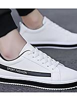 Недорогие -Муж. Комфортная обувь Полиуретан Весна & осень Кеды Серый / Красный / Черно-белый