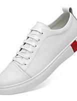 Недорогие -Муж. Кожаные ботинки Наппа Leather Весна Спортивные / На каждый день Кеды Нескользкий Белый / Черный