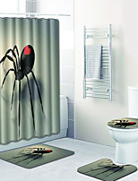 Недорогие -1 комплект На каждый день Коврики для ванны 100 г / м2 полиэфирный стреч-трикотаж Животное нерегулярный / Прямоугольная Ванная комната Творчество