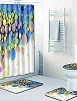 Недорогие -1 комплект Modern Коврики для ванны 100 г / м2 полиэфирный стреч-трикотаж Креатив Круглый / Прямоугольная Ванная комната Новый дизайн