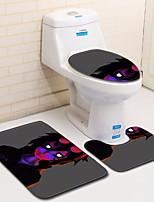 Недорогие -3 предмета Modern Коврики для ванны 100 г / м2 полиэфирный стреч-трикотаж Геометрический принт нерегулярный Ванная комната Градиент цвета
