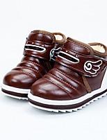 Недорогие -Мальчики / Девочки Обувь Полиуретан Наступила зима Удобная обувь Ботинки Для прогулок На липучках для Дети Синий / Темно-коричневый