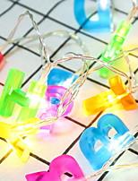 billiga -2m Ljusslingor 13 lysdioder Multifärg Dekorativ AA Batterier Drivs 1set