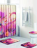 Недорогие -1 комплект Modern Коврики для ванны 100 г / м2 полиэфирный стреч-трикотаж Новинки Прямоугольная Ванная комната Творчество