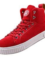 Недорогие -Муж. Комфортная обувь Полиуретан Осень Кеды Бежевый / Красный / Черно-белый
