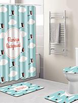Недорогие -1 комплект Modern Коврики для ванны 100 г / м2 полиэфирный стреч-трикотаж Геометрический принт нерегулярный / Прямоугольная Ванная комната Новый дизайн