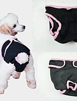 baratos -Cachorros Saúde / Calças / Limpeza Roupas para Cães Sólido Azul / Rosa claro / Preto Algodão Ocasiões Especiais Para animais de estimação Feminino Original / Estilo simples