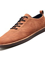baratos -Homens Sapatos Confortáveis Couro Ecológico Outono Oxfords Preto / Cinzento / Amarelo