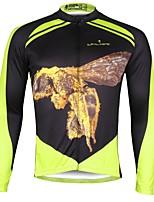Недорогие -ILPALADINO Муж. Длинный рукав Велокофты - Зеленый Мода Велоспорт Верхняя часть Зима, Эластан
