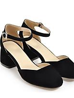 Недорогие -Жен. Комфортная обувь Резина Весна Обувь на каблуках На толстом каблуке Белый / Черный / Синий