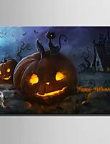 billiga -Tryck Stretchad Kanvastryck - Abstrakt / Halloween Moderna