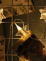 billiga -1.5m Ljusslingor 10 lysdioder Varmvit Dekorativ AA Batterier Drivs 1set