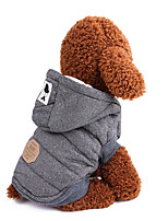 baratos -Cachorros Casacos Roupas para Cães Sólido / Clássico / Formais Cinzento / Azul Algodão Ocasiões Especiais Para animais de estimação Masculino Mantenha Quente