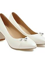 Недорогие -Жен. Комфортная обувь Замша Весна Обувь на каблуках На толстом каблуке Белый / Черный / Розовый