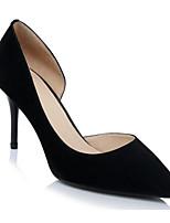 Недорогие -Жен. Комфортная обувь Замша Весна Обувь на каблуках На шпильке Черный / Розовый