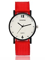 Недорогие -Жен. Наручные часы Кварцевый Новый дизайн Повседневные часы Ткань Группа Аналоговый Мода минималист Черный / Красный / Зеленый - Лиловый Красный Темно-зеленый Один год Срок службы батареи