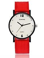billiga -Dam Armbandsur Quartz Ny Design Vardaglig klocka Duk Band Ramtyp Mode minimalist Svart / Röd / Grön - Purpur Röd Mörkgrön Ett år Batteriliv