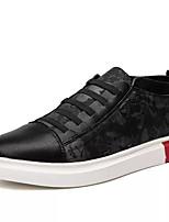 Недорогие -Муж. Комфортная обувь Полиуретан Осень На каждый день Кеды Нескользкий Черный / Черный / Красный