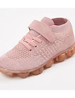 Недорогие -Девочки Обувь Трикотаж Зима Удобная обувь Кеды На липучках для Дети Белый / Лиловый