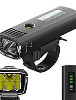 Недорогие -Передняя фара для велосипеда Светодиодная лампа Велосипедные фары Велоспорт Водонепроницаемый, Антибликовая, Датчик освещенности Литий-ионная аккумуляторная батарея 650 lm Белый