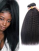abordables -Lot de 3 Cheveux Péruviens Yaki 8A Cheveux Naturel humain Tissages de cheveux humains Extension Bundle cheveux 8-28 pouce Couleur naturelle Tissages de cheveux humains Fabriqué à la machine Sexy Lady