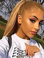 Недорогие -человеческие волосы Remy Полностью ленточные Лента спереди Парик Бразильские волосы Прямой Естественный прямой Блондинка Парик Ассиметричная стрижка 130% 150% 180% Плотность волос