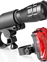 Недорогие -Передняя фара для велосипеда Светодиодная лампа Велосипедные фары Велоспорт Водонепроницаемый, Анти-шоковая защита, Быстросъемный Литий-ионная 160 lm Красный