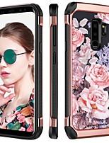 Недорогие -Кейс для Назначение SSamsung Galaxy S9 Plus Защита от удара / Покрытие / С узором Кейс на заднюю панель Цветы Твердый ТПУ / ПК для S9 Plus