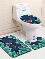 Недорогие -3 предмета Восточный Коврики для ванны 100 г / м2 полиэфирный стреч-трикотаж Новинки нерегулярный / Прямоугольная Ванная комната Милый