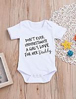 abordables -bébé Fille Imprimé Demi Manches Le maillot de corps