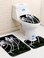 Недорогие -3 предмета Традиционный Коврики для ванны 100 г / м2 полиэфирный стреч-трикотаж Новинки Прямоугольная Ванная комната Cool
