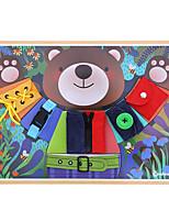 Недорогие -Деревянные пазлы Cool утонченный Взаимодействие родителей и детей деревянный 1 pcs Все Игрушки Подарок