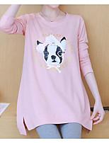 Недорогие -женская хлопчатобумажная футболка - мультяшная шея