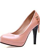 Недорогие -Жен. Комфортная обувь Полиуретан Весна Обувь на каблуках На шпильке Черный / Розовый / Миндальный