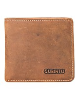 Недорогие -Муж. Мешки Бумажники Рельефный Сплошной цвет Коричневый