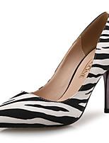 Недорогие -Жен. Синтетика Весна лето Обувь на каблуках На шпильке Заостренный носок Черно-белый