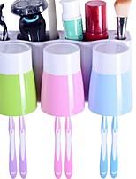 Недорогие -Стакан для зубных щеток Влажная чистка Модерн ПВХ 3шт Зубная щетка и аксессуары